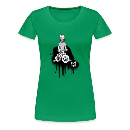 RIDE DIRT BLACK - Frauen Premium T-Shirt