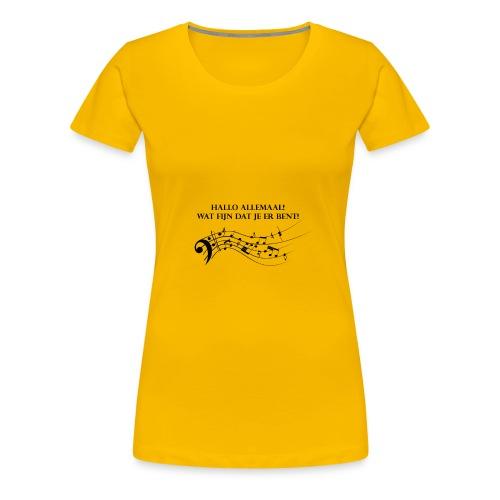 Hallo allemaal! - Vrouwen Premium T-shirt