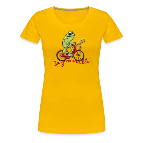 frog boopee white large - Women's Premium T-Shirt
