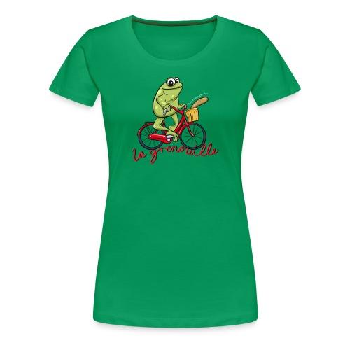 frog boopee white large - Women's Premium T-Shirt