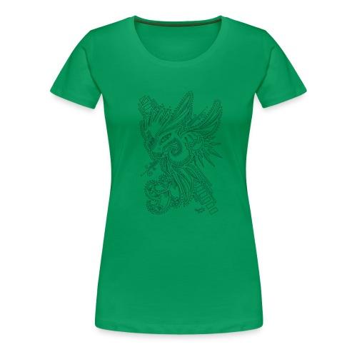 Drache schwarz - Frauen Premium T-Shirt