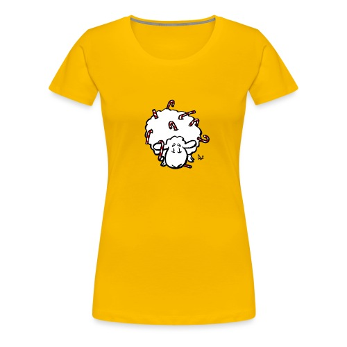 Candy Cane Sheep - T-shirt Premium Femme