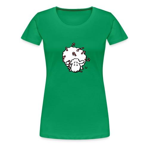 Candy Cane Sheep - Women's Premium T-Shirt