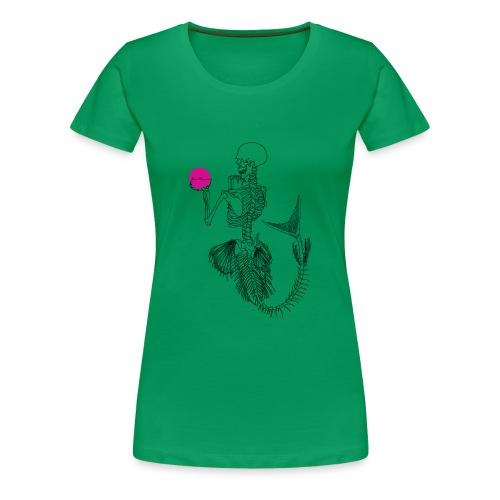 Black Mermaids Skelleton Pink Ball - Premium-T-shirt dam