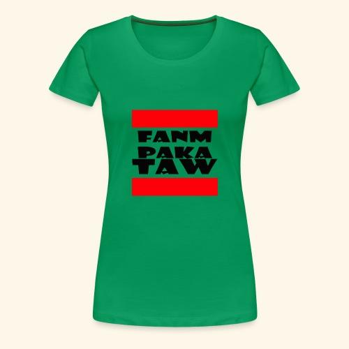 fanm paka taw noir - T-shirt Premium Femme