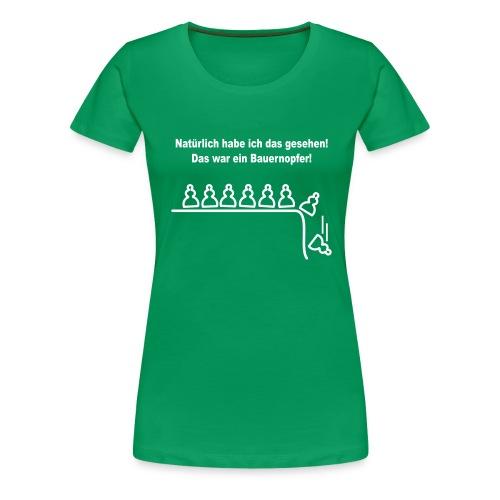 schach bauernopfer - Frauen Premium T-Shirt