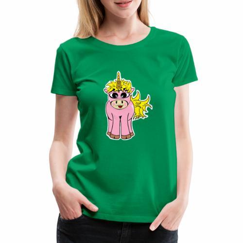 Unicorn female smile - T-shirt Premium Femme