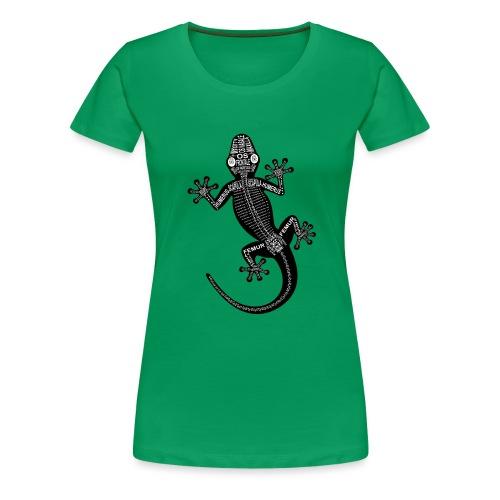 Gecko-Skelett - Dame premium T-shirt