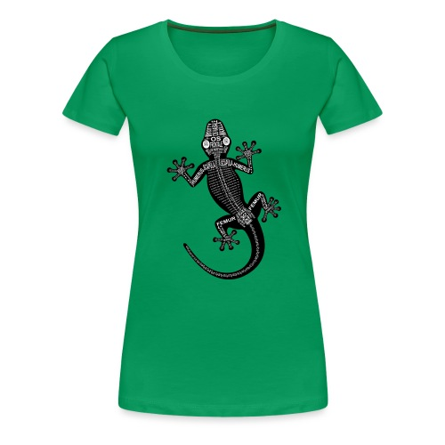 Gecko-Skelett - Naisten premium t-paita