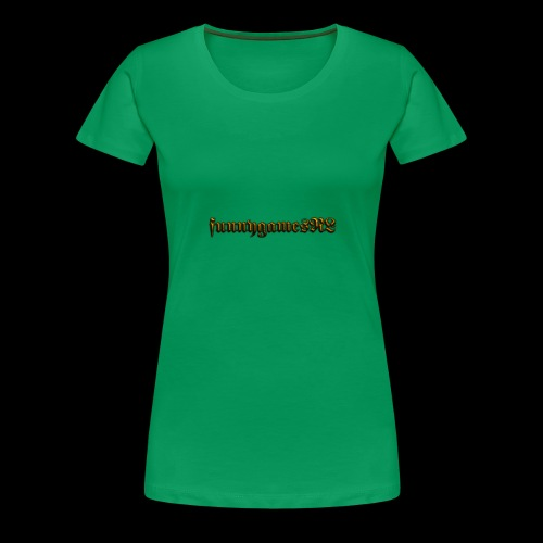 Cool Text funnygamesNL 276368389500691 - Vrouwen Premium T-shirt