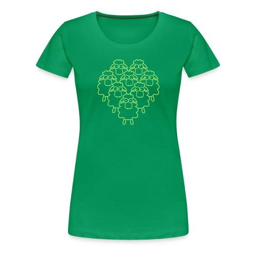 Schafe mit Herz - Frauen Premium T-Shirt