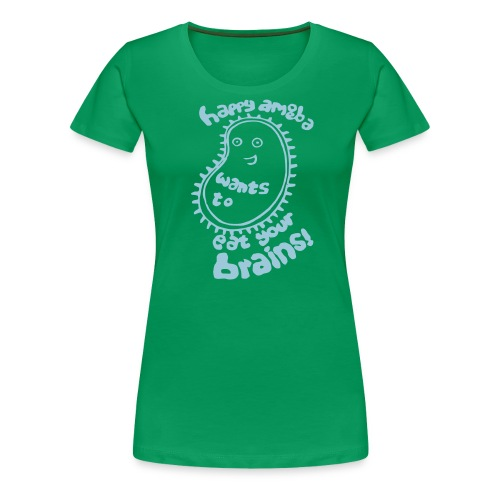 happy amoeba by shetlandwhatsvartvit - Premium-T-shirt dam