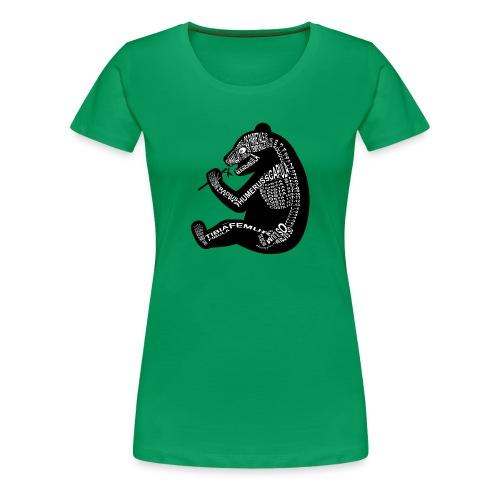 Panda-skjelett - Premium T-skjorte for kvinner