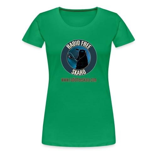 Radio Free Skaro Logo 2011 navy png - Women's Premium T-Shirt