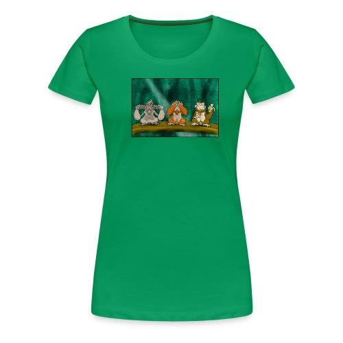 Drei Affen - Frauen Premium T-Shirt