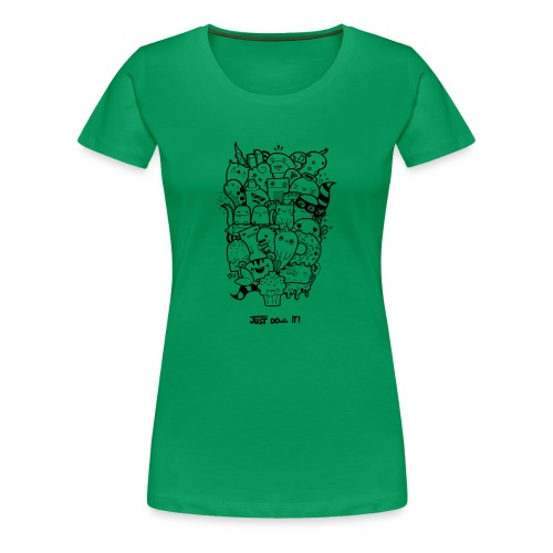 Just Doodle it Black - Frauen Premium T-Shirt