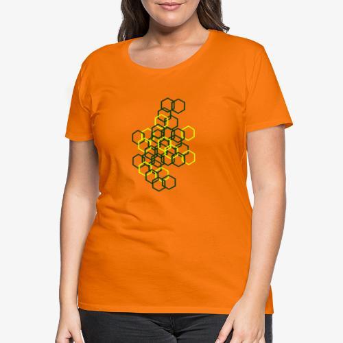 Hexagon Muster - Frauen Premium T-Shirt