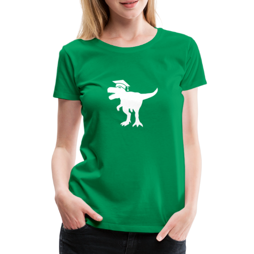 Dinosaurier Doktorhut Promotion Dissertation - Frauen Premium T-Shirt