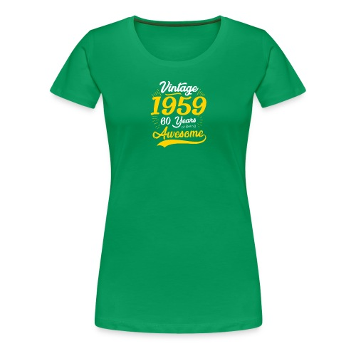 Vintage 1959 60th Birthday - Maglietta Premium da donna