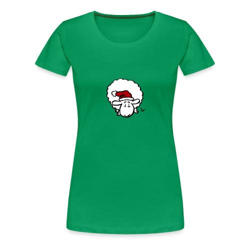 Weihnachtsschaf (rot) - Frauen Premium T-Shirt