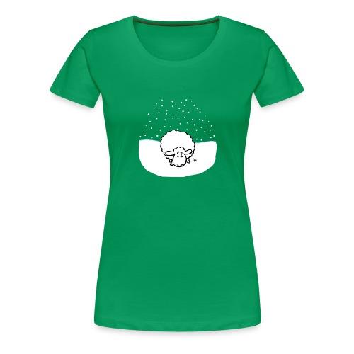Schneebedeckte Schafe - Frauen Premium T-Shirt