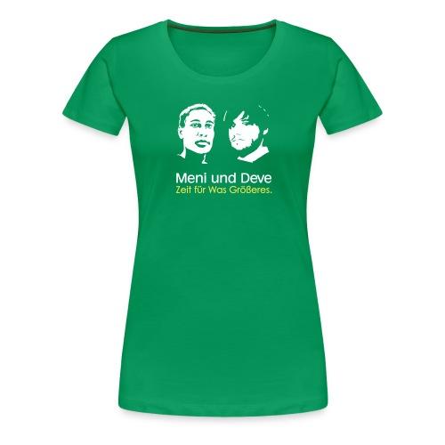 mein und deve zweifarbig - Frauen Premium T-Shirt