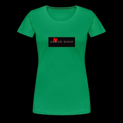 mobile disco logo schwarz - Frauen Premium T-Shirt