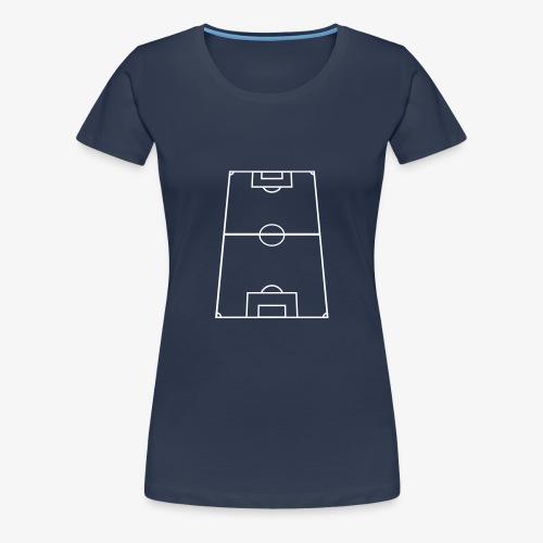 Fotbollsplan - Premium-T-shirt dam