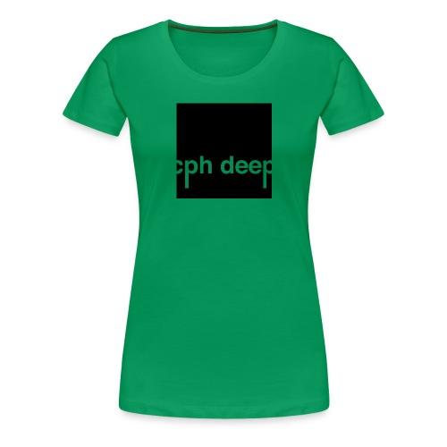 cph deep logo - Dame premium T-shirt