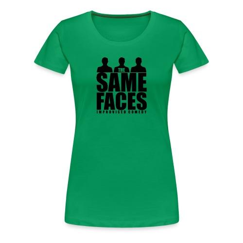 Same Faces Logo - Black - Women's Premium T-Shirt
