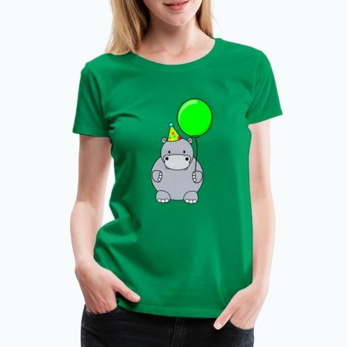 Henri Hippo Party - Appelsin - Premium-T-shirt dam