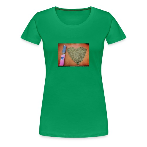 cannabis weed heart - Women's Premium T-Shirt
