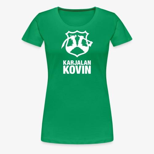 karjalan kovin pysty - Naisten premium t-paita