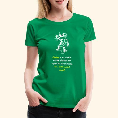 A battle against oneself - Frauen Premium T-Shirt