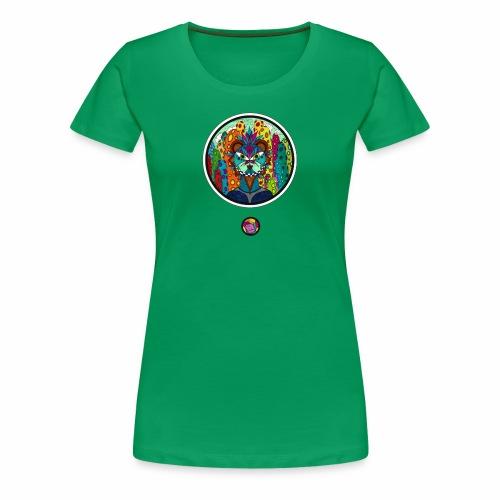 Le chat des colonnes bulleuses - T-shirt Premium Femme
