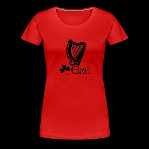 Irish Harp and Shamrock - Women's Premium T-Shirt