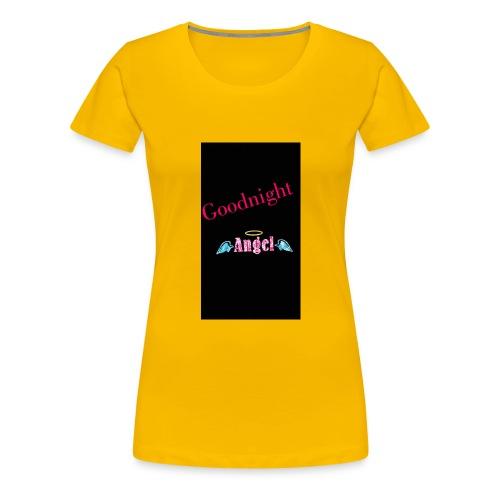 goodnight Angel Snapchat - Women's Premium T-Shirt
