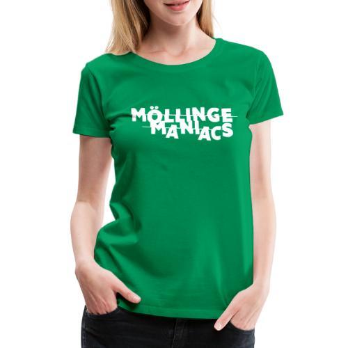 Möllinge Maniacs Vit logga - Premium-T-shirt dam