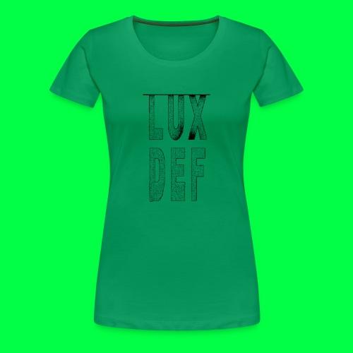 lux def: graphic brand logo design grafikdesign - Frauen Premium T-Shirt