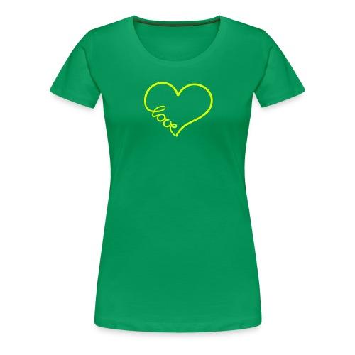 love heart 1 - Women's Premium T-Shirt