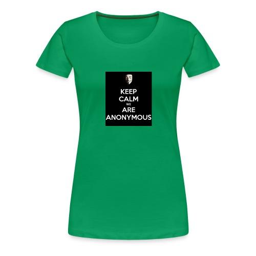 Keep Calm WE Are Anonymous - Premium T-skjorte for kvinner