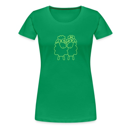 Schafpaar - Frauen Premium T-Shirt