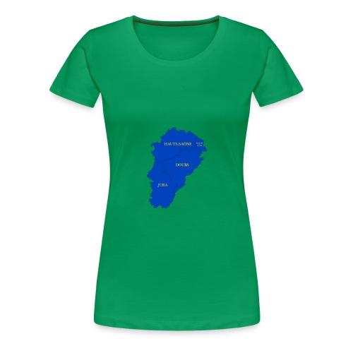 Franche-Comté + départements - T-shirt Premium Femme
