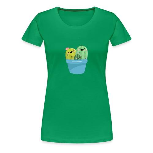cactus familia - Camiseta premium mujer