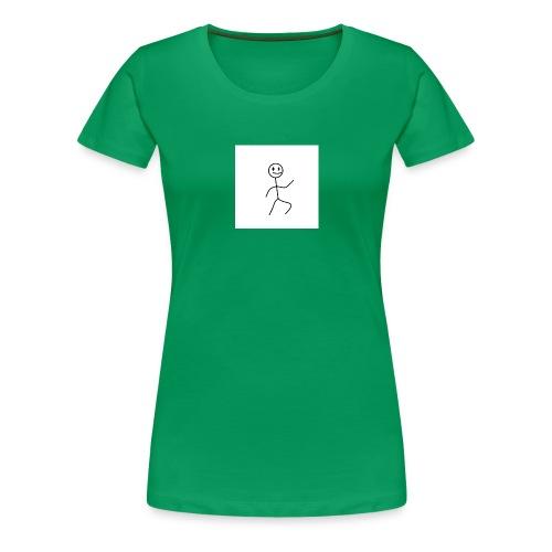 stick man t-shirt dance 1,0 - Dame premium T-shirt