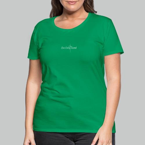 Vertial Heartbeat Cross - Women's Premium T-Shirt