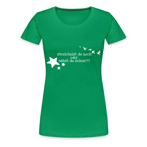 Nur für wahre Stofffreaks ... GrinseSternStoffShi - Frauen Premium T-Shirt