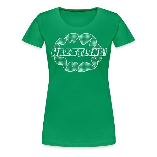 WrestlingWhite png - Women's Premium T-Shirt