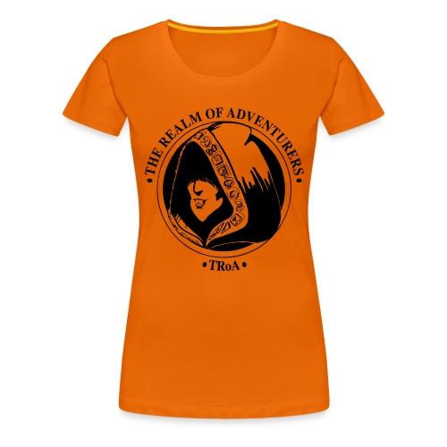 TRoA Logo Sort - Dame premium T-shirt