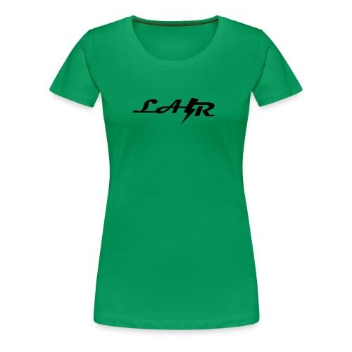 LaZr Lightning Bolt Text Logo - Women's Premium T-Shirt